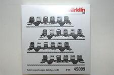Märklin 45099 auto trasporto Wagenset 4 pezzi con carico con 24 vetro Goggo Transp. NUOVO