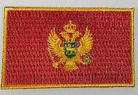 Montenegro Aufnäher gestickt,Flagge Fahne,Patch,Aufbügler,6,5cm,neu