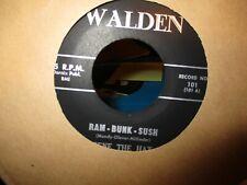 """1960 GENE THE HAT Ram Bunk Sush B/W Jelly Beans 7"""" Walden 101 Rock N Roll VG"""