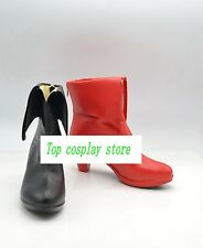 Batman Harley Quinn one black one red high heel ver cos Cosplay Shoes Boots shoe