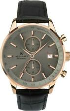 ACCURIST GENTS ROSE GOLD PLATED BLACK LEATHER STRAP WATCH 7228 RRP £159.99