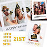 21st 18/30/40/50th Happy Birthday Paper Photo Booth Props Frame Party Decoration