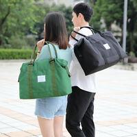 Men Women's Travel Canvas Hand Luggage Duffel Bag Handbag Weekend Overnight Bag