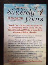 VERA LYNN - WWII ENTERTAINER  FORCES SWEETHEART - STUNNING SIGNED THEATRE FLYER