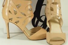 Nine West Fabeyana Womens Size 9 M Tan Leather Dress Sandals Shoes