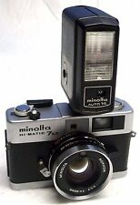 MINOLTA HI-MATIC 7s II W/ROKKOR 1.7 40mm LENS & FLASH