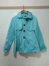 Savoir Light Blue Trench Style Cape Coat Jacket Size UK 14