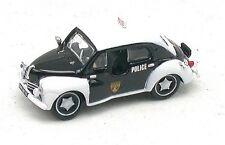 """Renault 4cv de 1955 Police """"Pie""""noir et blanc - Norev - Echelle 1/87 - Ho"""