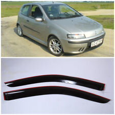 Wide Window Visors Side Sun Guard Vent Deflectors For Fiat Punto Hb 3d 1999-2003