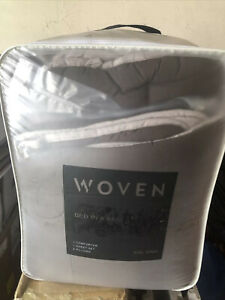 Malouf Cal King Brown Woven Bed in a Bag Down Alt. Comforter + Sheets + Pillows