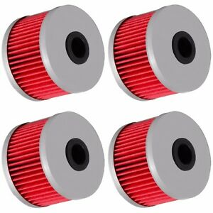 4 Oil Filter Filters for Honda XR250L XR250R XR400R XR500R XR600R XR650R XR650L