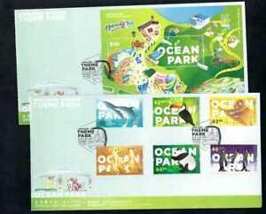 China Hong Kong 2020 FDC Theme Park – Ocean Park HK Bird Animals Stamp Set