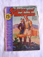 "Science and Mechanics February (Feb) 1938  ""Treasure Hunting by Radio"" (FAIR)"