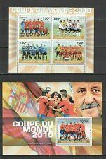 TG1219 2010 TOGO SPORT FIFA SOCCER WORLD CUP 2010 STARS WINNER SPAIN BL+KB MNH