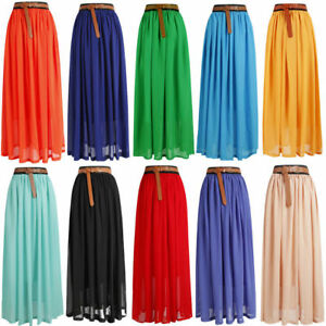 Ladies womens gypsy long jersey bodycon maxi dress skirt ladies size 8-26*chfn