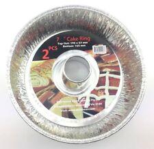 New 6x Alunimun Pan Cake Tin Mould Cake Ring Bakeware Baking Fluted Kitchen Tool