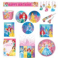 Disney Princess Party Supplies Cups Plates Napkins Candles Loot Bags Decorations