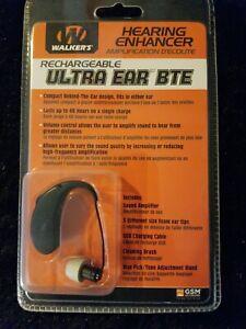 Walker's Hearing Enhancer Rechargeable Ultra Ear BTE Brand New in Package!