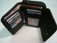 Ladies Leather Purse Wallet Black Large Coin Pocket and Features RFID Protected