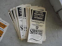 Lot of 50 Vintage 1967 PRR New York to Pittsburgh Philly Train Timetables LOOK