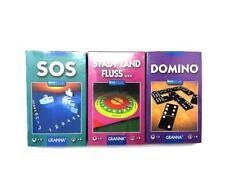 3 Stück GRANNA Reisespiele, SOS; STADT, LAND, FLUSS; DOMINO
