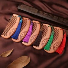 Tassel No-static Peach Tooth Sandalwood Wide Hair Massage Wooden Comb