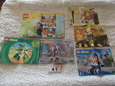 ASSORTED LEGO  INSTRUCTION MANUALS #41(SEE PHOTO)