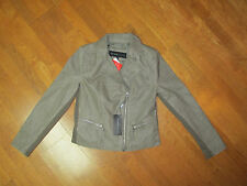MARC NEW YORK ANDREW MARC WOMENS Clay Diagonal Zip Faux Leather Jacket M