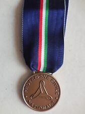 medaglia al merito della protezione Civile Nazionale bronzo