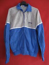 Veste Vintage Adidas Grise et ciel années 80 Rétro Acrylique Ventex - 44 / M