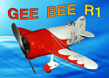 Model Airplane Full Size Printed Plan Free Flight  Gee Bee-R1  Rubber Power