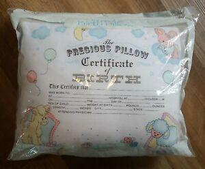 Vintage NIP Luv n Care Precious Pillow Birth Certificate Sheep Keepsake USA