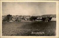 Zinnwald Erzgebirge alte DDR s/w Postkarte ~1950/60 Blick auf die Stadt Panorama
