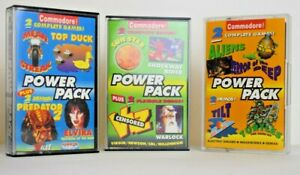 CF POWER PACK COLLECTION x3, C/W Case - Commodore 64 Cassette