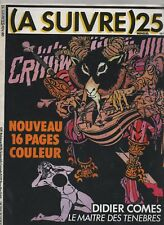 A SUIVRE n° 25 - Février 1980.  Couverture COMES - Très bel état
