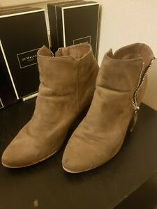 JUSTFAB, Brown FAUX SUEDE, ANKLE BOOTS SHOES UK 8, EU 41