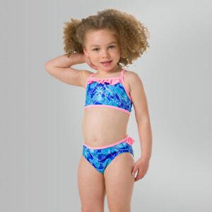 Speedo Disney Frozen ESS Frill Swimwear Girls Pool Beach Swimsuit Swimming 2pc