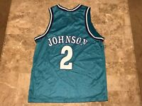 Larry Johnson #2 Basketball Vintage 90s Blue Converse Jersey Adult Size Medium