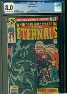 The Eternals #1 (1976)(CGC 8.0) - ORIGIN/1ST APP. OF THE ETERNALS - BRONZE KEY