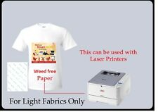100 X A4Self Weeding  image heat transfer paper for light fabrics