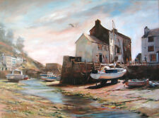 Artist's Print of Oil Painting of Cornish Harbour by Christopher Cole