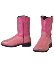 Brand New SMB Cowboy BOOT size 5 Pink Leather BOOTS