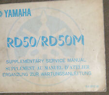 YAMAHA  RD50 / RD50M SERVICE MANUAL SUPPLEMENTARY  1978 (1st EDTION)