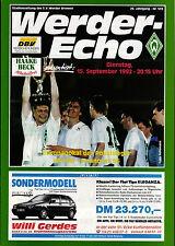 CWC - EC II 92/93 SV Werder Bremen - Hannover 96, 15.09.1992
