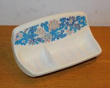 ORIGINAL FRANCE vintage PORTE SAVON FLEURS soap dish MURAL Seifenschale FLOWERS