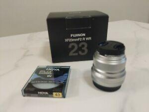 Fujifilm XF 23mm F/2 R WR Lens with Hoya UV filter