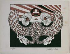 Original 1980s fantastic realism by Austrian Hans Krenn (1932–2007), signed