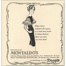 1959 Montaldos: Allegro Sleeves of Pleanted Silk Vintage Print Ad