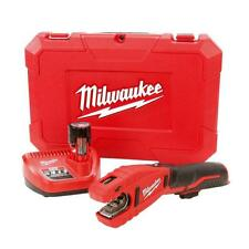 Milwaukee 12 Volt Li Ion Copper Tubing Tube Pipe Cutter Kit Plumber's Tool New