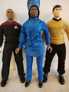 Star Trek action figures - lot of 3 - (1/9 scale) - approx. 9 inches each